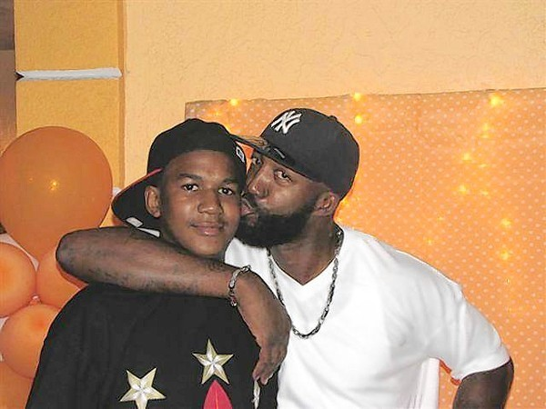 Trayvon Martin with his father Tracy Martin in an undated photo